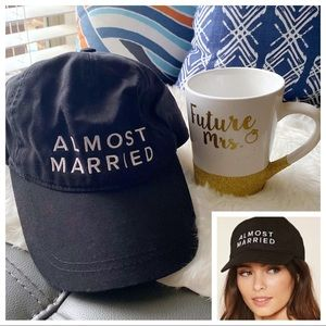 """Forever 21 """"Almost Married"""" Dad Hat and Coffee Mug"""